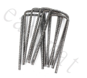U Pins Metal Steel Pegs Turf Reinforcement Grass Protection Mesh Mat Easimat
