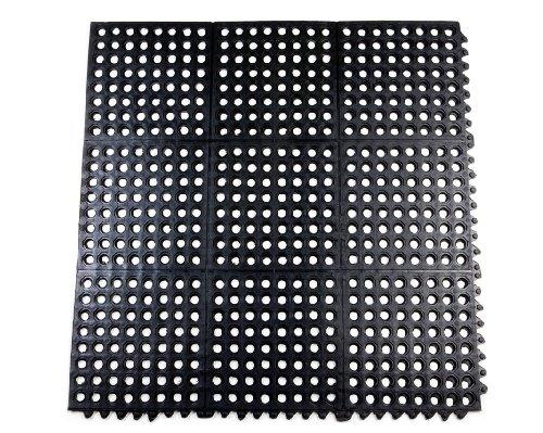 Rubber Interlocking Mat With Holes Grass Drainage Inside Outside Bar Shed 292