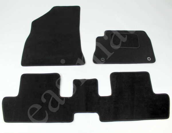 Peugeot 3008 2009-2016 Fully Tailored Carpet Car Mats Black 3pc Floor Mat Set