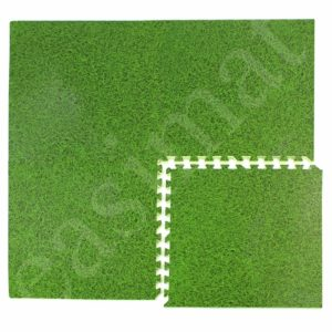 Grass Effect EVA Interlocking Foam Mats Play Home Office Exhibition Garage Tiles