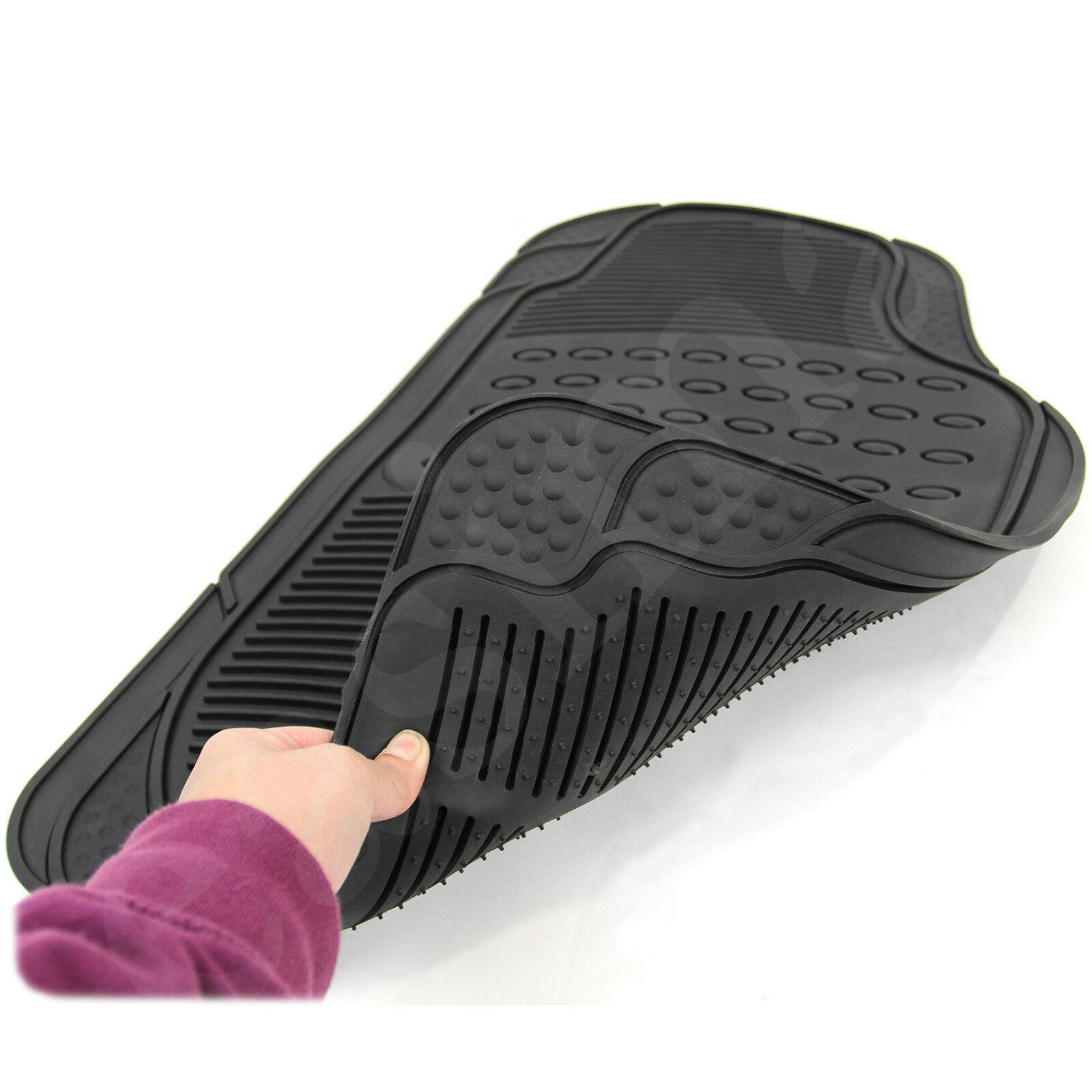 FORD FOCUS 2011 ONWARDS TAILORED BLACK CAR MATS WITH PURPLE TRIM