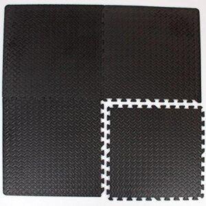 EVA Interlocking Floor Tiles for Garages, Gyms & Play Areas (D 057) (64sqft)