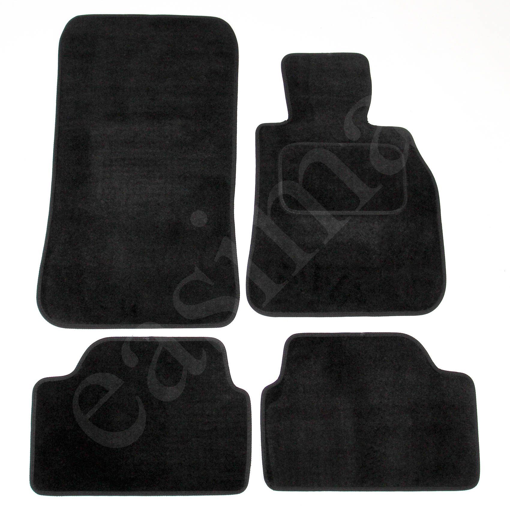 PEUGEOT 207 2006 ONWARDS TAILORED CAR FLOOR MATS BLACK CARPET WITH RED TRIM