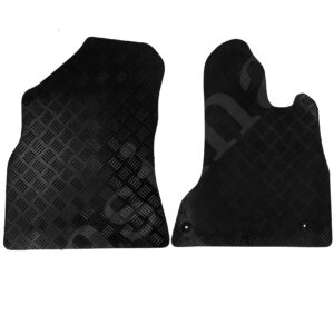Fits Citroen Berlingo 2008-2018 Tailored Rubber Van Car Mats Black 2pc Floor Set