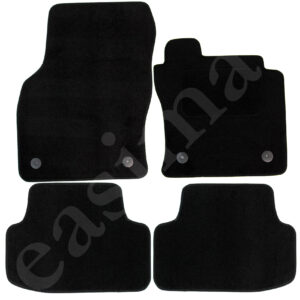 Fits VW Golf Mk8 2019 onwards Tailored Carpet Car Mats Black 4pcs Floor Set