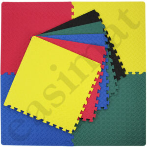 Gym Exercise Play Mats EVA Foam in Black, Blue, Red, Yellow and Green